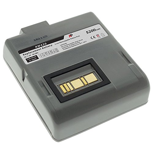 Zebra / Comtec RW420 Barcode Printer: Replacement Battery. 5200 mAh