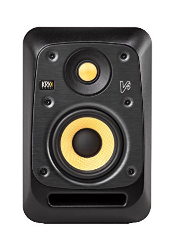 "KRK V4 Series 4 4"" 2-Way Powered Studio Reference Monitor, Black"