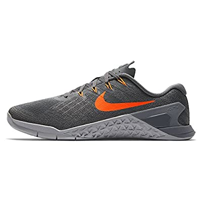 Nike Mens Metcon 3 Training Shoes Track Dark Grey/Hyper Crimson 852928-007 Size 11.5