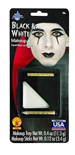 Black Bride Halloween Makeup (Rubie's Costume Co Black & White Makeup)