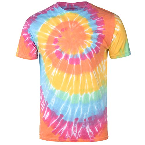 Magic River Handcrafted Tie Dye T Shirts - Aerial - Adult XX-Large
