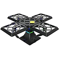 Owill Utoghter 2MP Wifi Real Time Transmission FPV 6-Axis Gyro Quadcopter Folding Transformable Pocket Drone Altitude Hold Quadcopter (Black)