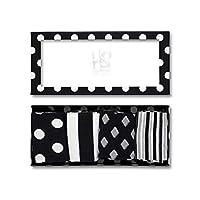 HS by Happy Socks 4 Pair - Fun Novelty Big Dot Gift Box for Men & Women Black 9-11