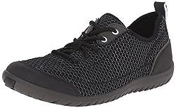 Clarks Women's Ibeeck Lace Walking Shoe, Black Mesh, 5 M US