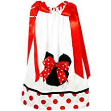 Wholesale Princess Black, Red and White Minnie Pillow Case Dress