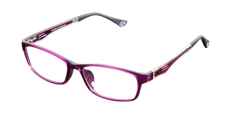 De Ding Fashion Clear Lens Eyeglasses Optical Frames Purple