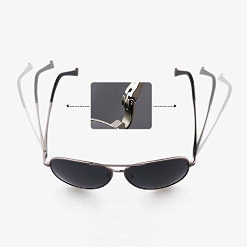 New d Polarized Sun soleil Protection Sunglasses 2 Star Lunettes Lunettes Sports Lunettes Couleurs soleil Gift de pour Protective En Visor UV de option de Retro Hiker Gun Color Gray Frame; A hommes Black soleil UV400 Driving A7RqPP0
