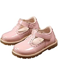 2eab3937f55f Girls  Fashion British Retro T-Strap Princess Oxfords Shoes Mary Jane Flats  Toddler Little
