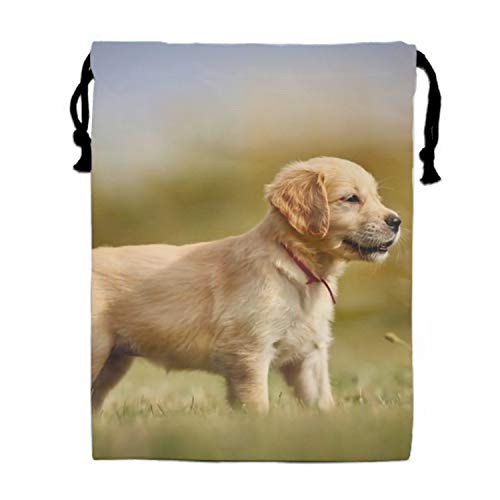 Party Favors Bags Golden Retriever Dog Designs, Cartoon Gift Candy Drawstring Bags Pouch, Treat Goodie Bags Kids Girls Boys Birthday