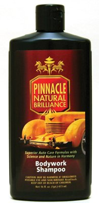 Pinnacle Natural Brilliance PIN-100 Bodywork Shampoo, 16 fl. oz.