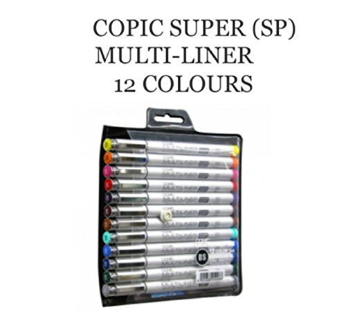 Copic Super (SP) Multi-Liner 12 Colors (Brush Type) by Copic