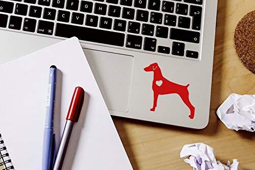 CELYCASY Doberman Pinscher Natural Ears Sticker Doberman Decal Natural Ears Car Laptop Vinyl Decal Sticker
