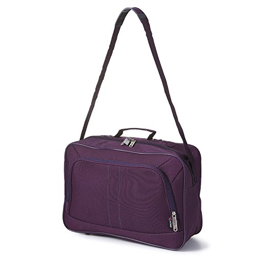 16-inch-carry-on-hand-luggage-flight-duffle-bag-2nd-bag-or-underseat-19l-plum