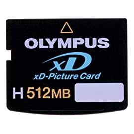 Olympus 202031 H-512 MB xD-Picture Card (Retail Package) 6 Writes up to 2x to 3x faster than previous xD cards, so there's less waiting between shots Includes fun editing software that lets you turn your photos into artwork Supports the Panorama function found with today's Olympus digital cameras