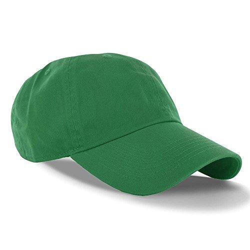 Green_(US Seller)Curved Bill Plain Baseball Cap Visor Hat Adjustable