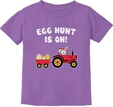 Easter Egg Hunt Gift for Tractor Loving Kids Toddler/Infant Kids T-Shirt