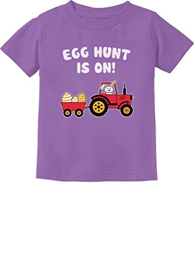 Easter Egg Hunt Gift for Tractor Loving Kids Toddler/Infant Kids T-Shirt 2T Lavender