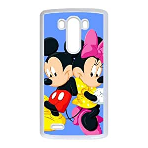 Disney Mickey Mouse Minnie Mouse LG G3 Cell Phone Case White yyfabc-605513