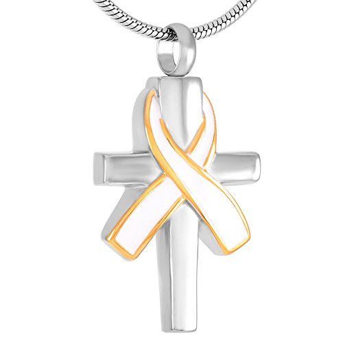 Memory of Breast Cancer Cremation Ashes Jewelry Always With You Keepsakes