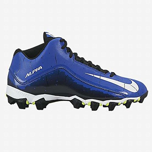 Nike Men's Alpha Shark 2 Three-Quarter Football Cleat Sport Royal/Black/White Size 7.5 M US (Mens Football Cleat)