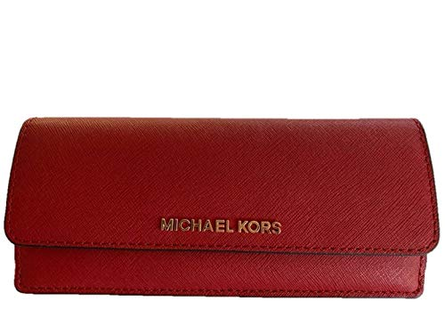 Michael Kors Jet Set Travel Flat Wallet in Saffiano Leather (Scarlet Red)