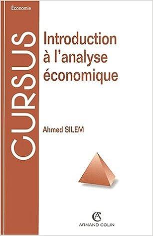 Livres Introduction à l'analyse économique pdf epub