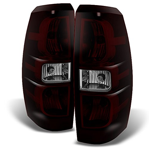 - For Chevy Avalanche Pickup Dark Red Tail Lights Brake Lamps Driver Left + Passenger Right Replacement