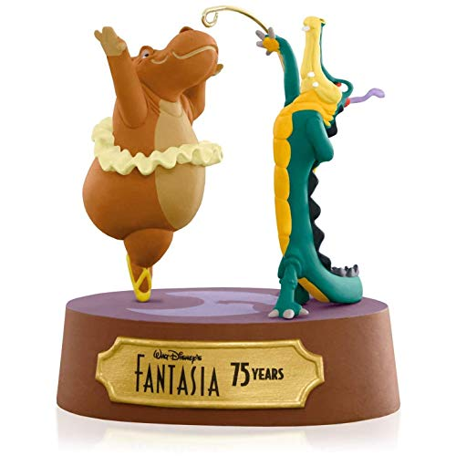 Fantasy Ornament - Hallmark Disney Fantasia Dancing Hippo and Alligator Ornament 2015