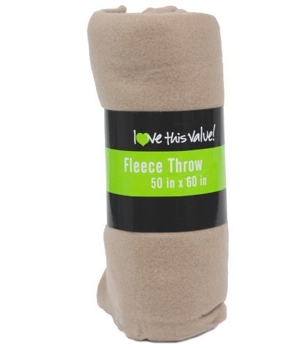 Imperial Home Cozy 50 X 60 Fleece Throw Blanket - Tan