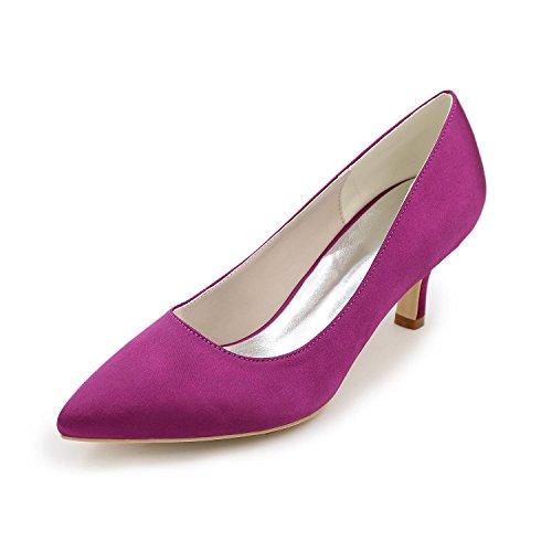 Elegant Damen-High Heels-Hochzeit Party & Festivität-Satin-Stöckelabsatz-Komfort-Weiß Purple