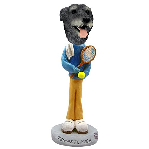 Irish Wolfhound Tennis Player Doogie Collectible Figurine