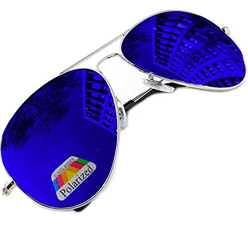 a de unisex Blue diversos moda colores espejo Ltd única de la Morefaz piloto de gafas Polarized Aviator Gafas estilo Talla sol 0nTBW0cd