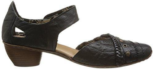 Rieker 43702, Women's Closed Toe Heels Black (Schwarz/Schwarz / 01 01)