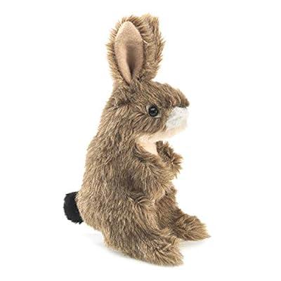 Folkmanis Mini Jack Rabbit Finger Puppet: Toys & Games