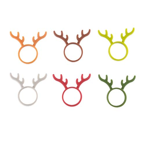 Drink Markers For Men 6pc Assorted Reindeer Beer Bottle Markers - Set Of 12 (Sold by Case, Pack of 12) by True Fabrications