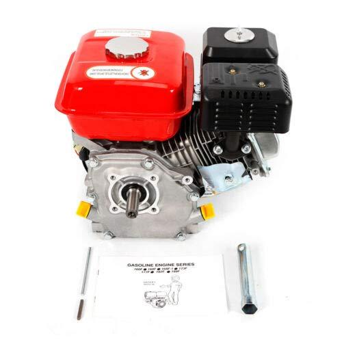 Motor de Gasolina con Alarma de Aceite Cilindro Individual refrigerado por Aire SHIOUCY Motor de Gasolina Shimano 7.5 HP//5.1 kW//3600 RPM con Eje de 20 mm Motor de 4 Tiempos