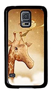 Case Shell For Apple Iphone 5C Case Cover ed with Picking Star on Giraffe,Customized Black Hard Plastic Cover Skin For Apple Iphone 5C Case Cover I9600,Cute For Apple Iphone 5C Case Cover