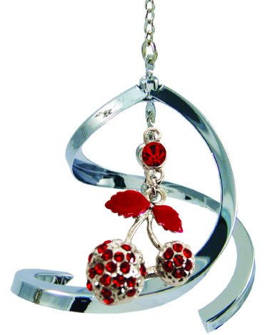 Propelling Spiral Ornaments - Fruits (Cherries, Strawberries or Pineapple) (Cherries - Red) -  Crystal Delight by Mascot
