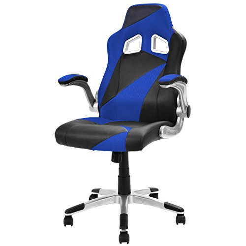 41SQ3TmV49L - Giantex Executive Racing Chair PU Leather Bucket Seat Gaming Chair Desk Computer