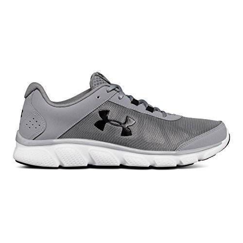 Under Armour Men's Micro G Assert 7 Running Shoe, Steel (100)/White, 10