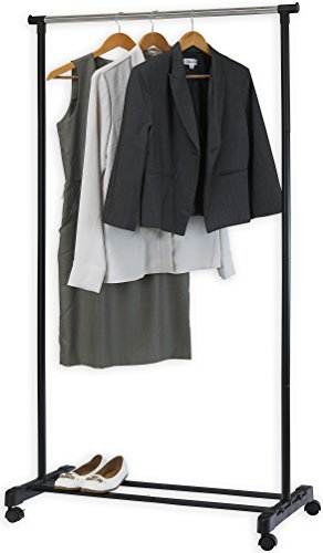 Simple Houseware Portable Closet Hanging Clothing Garment Rack with (Rolling Closet)