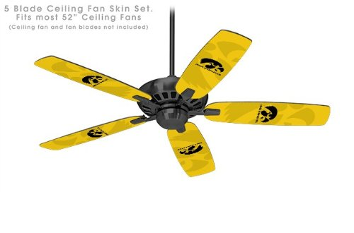 Iowa Hawkeyes Herkey Black on Gold - Ceiling Fan Skin Kit fi