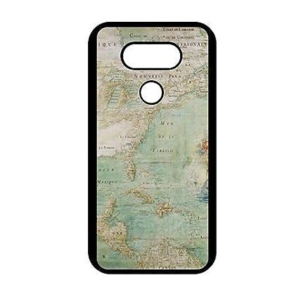 Amazon.com: Custom LG G5 carcasa protector Fun Mapa del Mundo