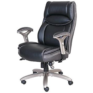 Serta Smart Layers Jennings Super Task Big And Tall Chair, Black/Slate