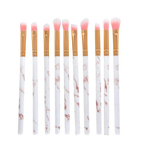 Hot Sale! Makeup Brushes Set for Women, Iuhan 10 Pcs Makeup Brush Set Face Eye Shadow Eyeliner Foundation Blush Lip Makeup Brushes Powder Liquid Cream Cosmetics Blending Brush Tool (Gold) ()