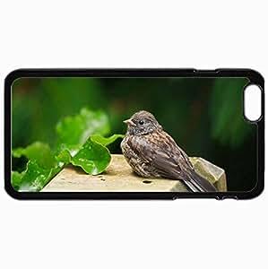 Fashion Unique Design Protective Cellphone Back Cover Case For iPhone 6 Plus Case Bird Black