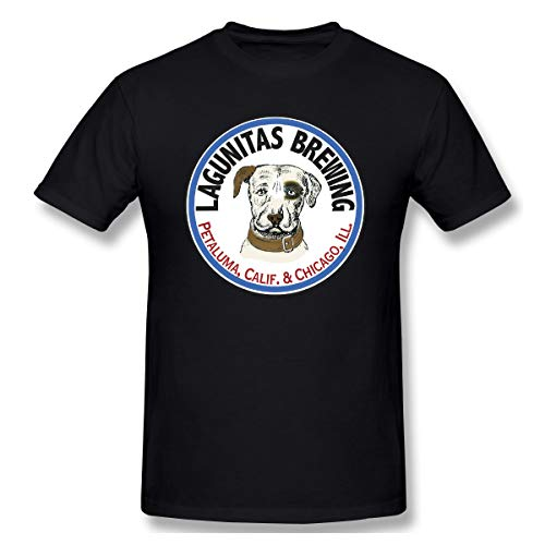 JohnnyKJayTee Men's Lagunitas-Brewing-Co Classic T-Shirts Colornam M with Creative Printed Short Sleeve Black