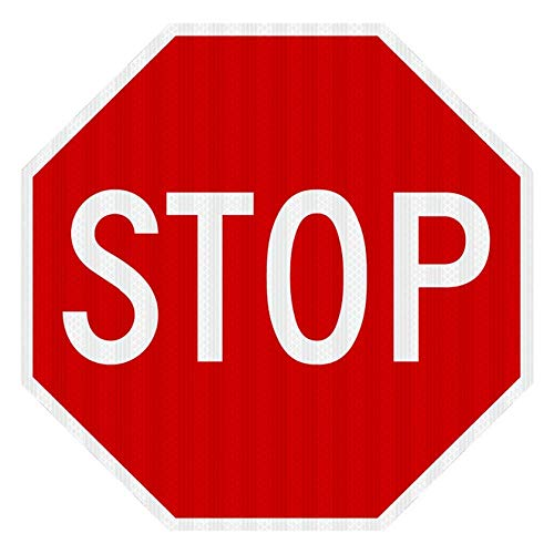 (STOP SIGN Street road Sign 18 x 18. A Real Sign. 10 Year 3M Warranty)