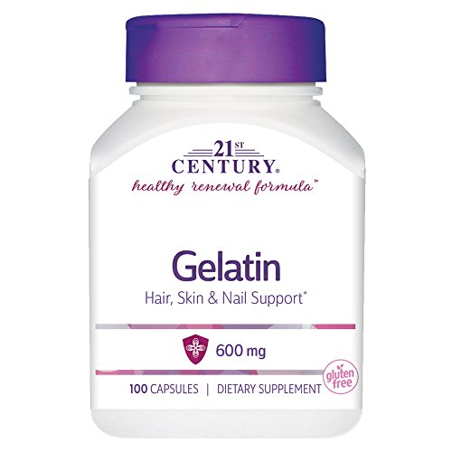 21st Century Gelatin 600mg, 100 Capsules