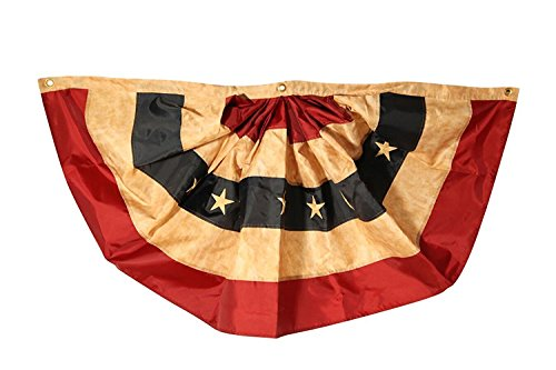 Darice Tea Stained Flag Bunting, 25 by 48-Inch 3-Pack